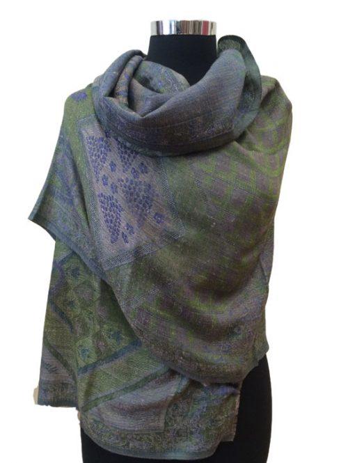 Jacquard Wool Wrap