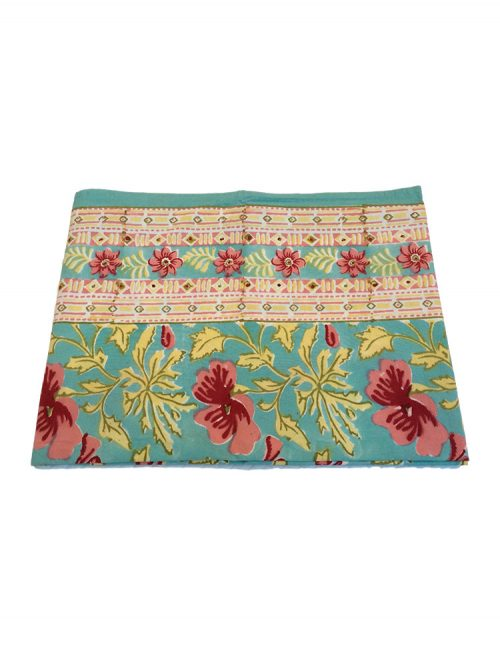Indian Block Print Cotton Tablecloth