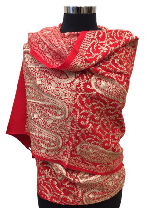 Kashmiri Wool Embroidered Shawl