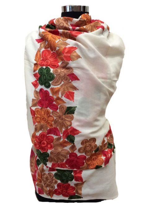 Kashmiri Embroidered Wool Stole