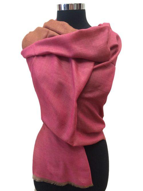 Reversible Plan Wool Stole