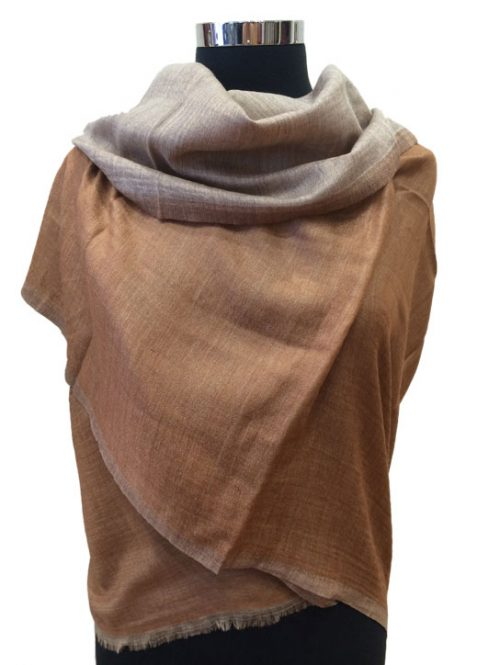 Reversible Plan Wool Stole