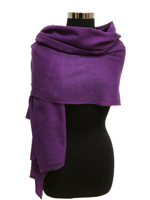 Purple cashmere stole