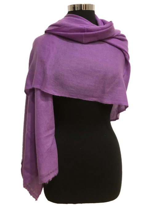 amethyst purple cashmere stole