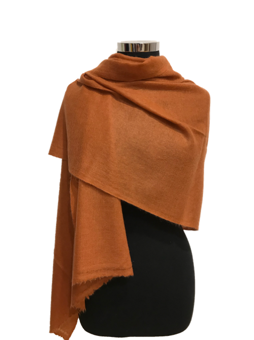 burnt orange cashmere stole