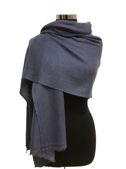 charcoal grey cashmere stole