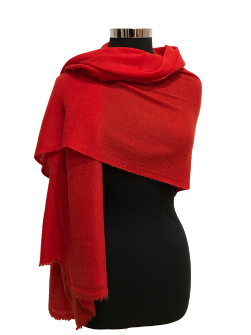 chilli red cashmere scarf