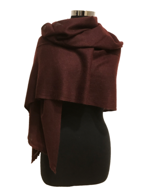 chocolate brown cashmere stol e