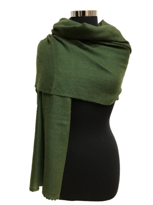 forest green cashmere stole