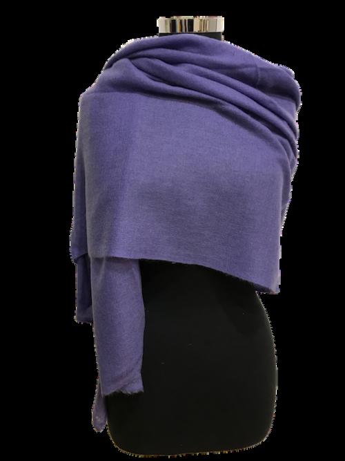 lavender cashmere stole
