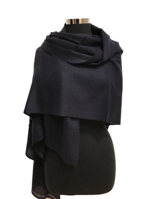 midnight blue cashmere stole
