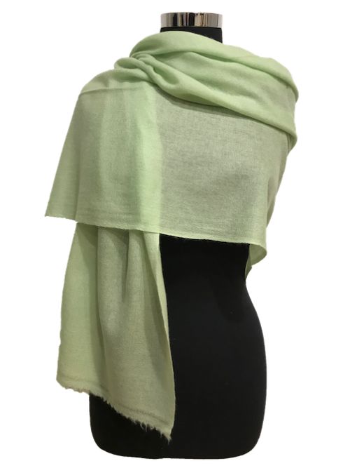 pastel green cashmere stole