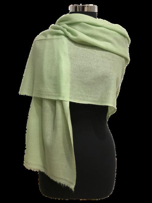 pastel green cashmere stole