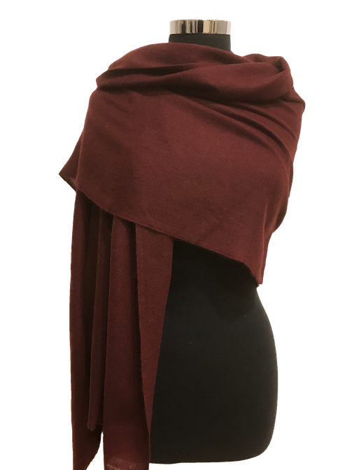 pecan brown cashmere stole