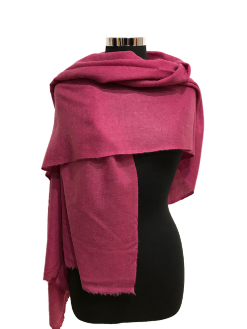rouge pink cashmere stole