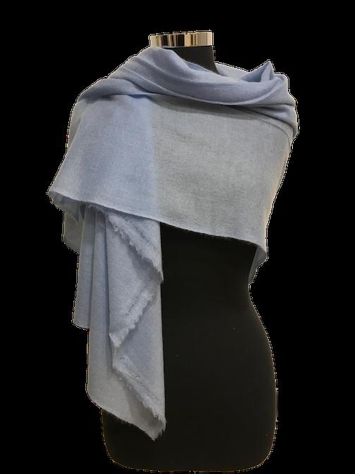 silver blue cashmere stole