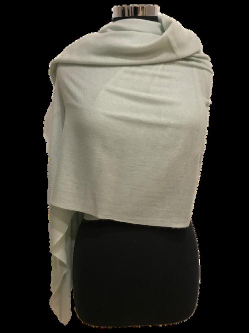 silver:white cashmere scarf