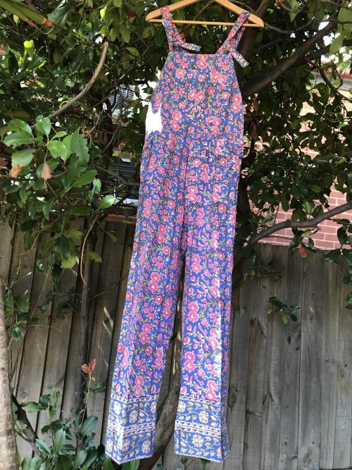 COTTON OVERALLS / SIZE 12-14