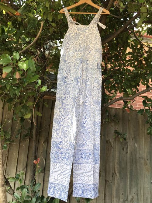 COTTON OVERALLS - SIZE 12-14
